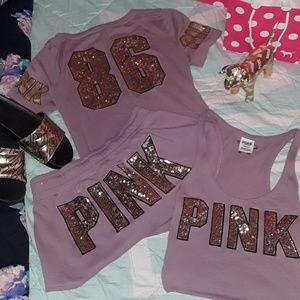 PINK Victoria's Secret Pink & Bling Set